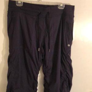 NWT Lululemon navy Studio Pant II Lined, Size 12.